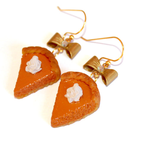 Pumpkin Pie Earrings - Fatally Feminine Designs