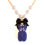Black Cat Marshmallow Peep Necklace - Fatally Feminine Designs