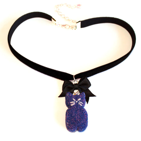 Black Cat Marshmallow Peep Choker - Fatally Feminine Designs
