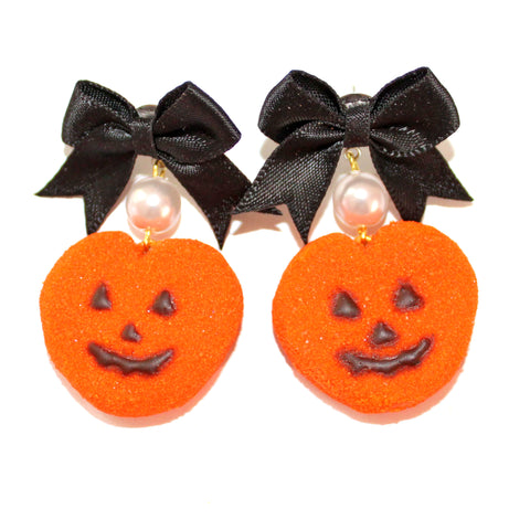 Pumpkin Marshmallow Peep Earrings - Fatally Feminine Designs