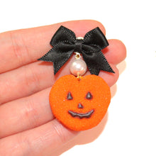 Load image into Gallery viewer, Pumpkin Marshmallow Peep SET - Necklace & Earrings - Fatally Feminine Designs