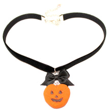 Load image into Gallery viewer, Pumpkin Marshmallow Peep Choker - Fatally Feminine Designs