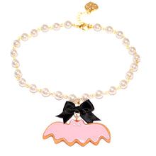 Load image into Gallery viewer, Purple Pastel Bat Cookie Pearl Choker - Fatally Feminine Designs