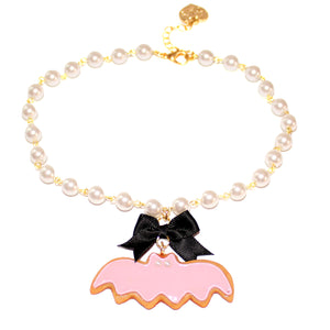 Purple Pastel Bat Cookie Pearl Choker - Fatally Feminine Designs