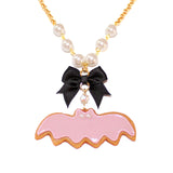 Pastel Bat Cookie Necklace - Fatally Feminine Designs