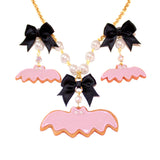 Pastel Bat Cookies SET - Necklace & Earrings - Fatally Feminine Designs