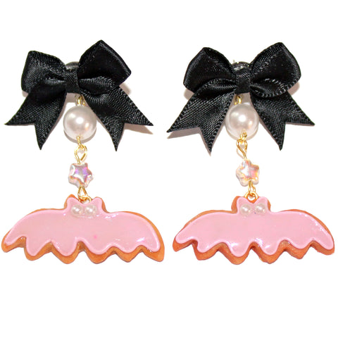 Pastel Bat Cookies Earrings - Fatally Feminine Designs