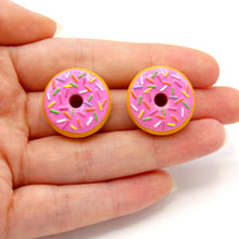 Load image into Gallery viewer, Pink Donut Stud Earrings - Fatally Feminine Designs