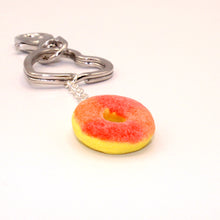 Load image into Gallery viewer, Gummy Peach Ring Keychain - Fatally Feminine Designs