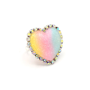 Trinket Ring - Pastel Rainbow - Adjustable