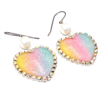 Load image into Gallery viewer, Trinket Earrings - Pastel Rainbow - Hypoallergenic