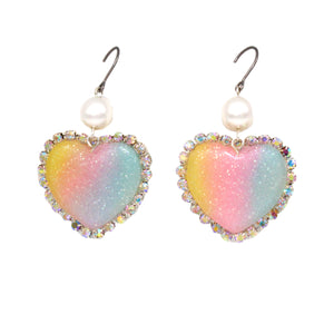 Trinket Earrings - Pastel Rainbow - Hypoallergenic