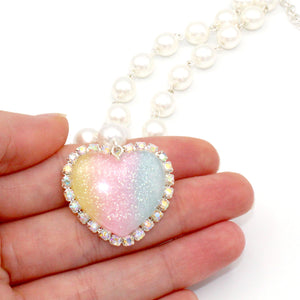 Trinket Necklace - Pastel Rainbow