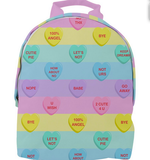 Bittersweet Candy Hearts Pastel Rainbow Backpack