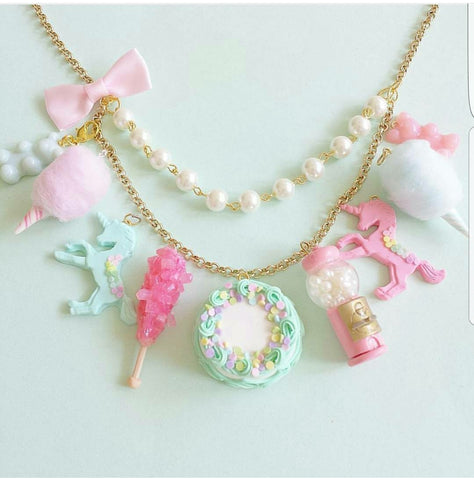 Pastel Candy Statement Necklace