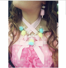 Load image into Gallery viewer, Pastel Cotton Candy Carnival Statement Necklace