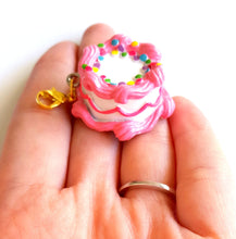 Load image into Gallery viewer, Pink Birthday Cake Pendant
