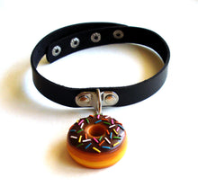Load image into Gallery viewer, Pink or Chocolate Donut Choker Necklace