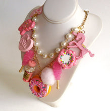 Load image into Gallery viewer, All Pink Candy Necklace  Statement Necklace
