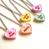 Candy Conversation Heart Necklace