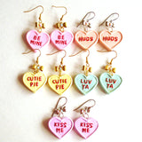 Conversation Heart Earrings Valentines Day