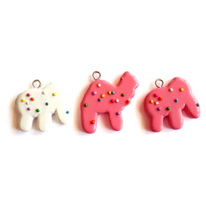 Frosted Circus Animal Cookie Charm