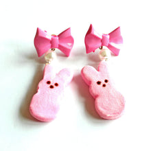 Load image into Gallery viewer, Peeps Marshmallow Bunny Earrings