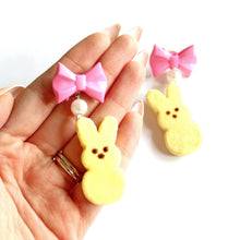 Load image into Gallery viewer, Peeps Marshmallow Bunny Earrings - Fatally Feminine Designs