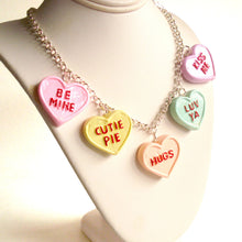 Load image into Gallery viewer, Conversation Heart Charm Necklace Valentines Day