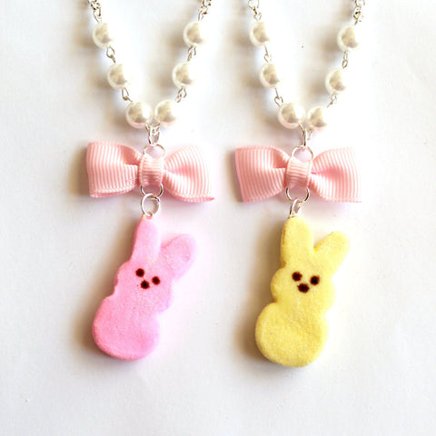 Peeps Marshmallow Bunny Necklace