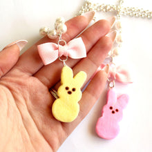 Load image into Gallery viewer, Peeps Marshmallow Bunny Necklace