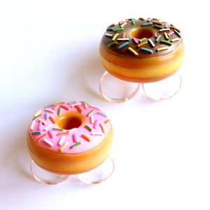 Large Two-finger Donut Ring, Pink or Chocolate