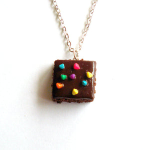 Cosmic Brownie Charm Necklace