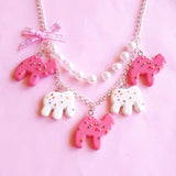 Circus Animal Cookies Necklace Statement Necklace