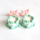Pastel Mint Birthday Cake Earrings