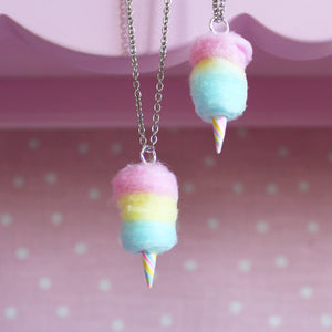 Rainbow Cotton Candy Necklace