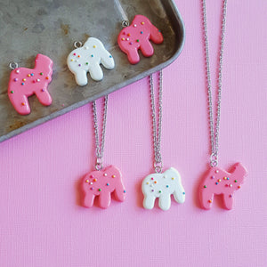 Frosted Animal Cookies Necklace Chain Necklace