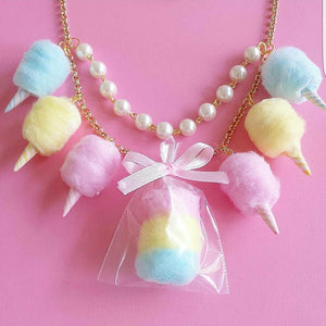 Pastel Cotton Candy Carnival Statement Necklace
