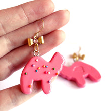 Load image into Gallery viewer, Circus Animal Cookies Earrings with Bows