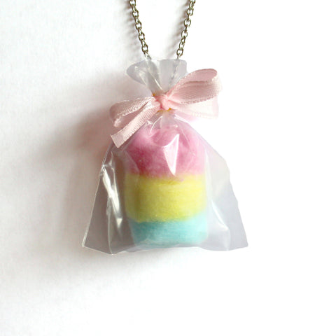 Carnival Pastel Cotton Candy Bag Necklace