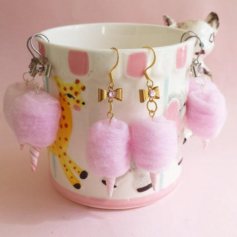 Carnival Cotton Candy Earrings