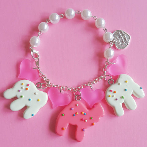 Frosted Animal Cookie Charm Bracelet