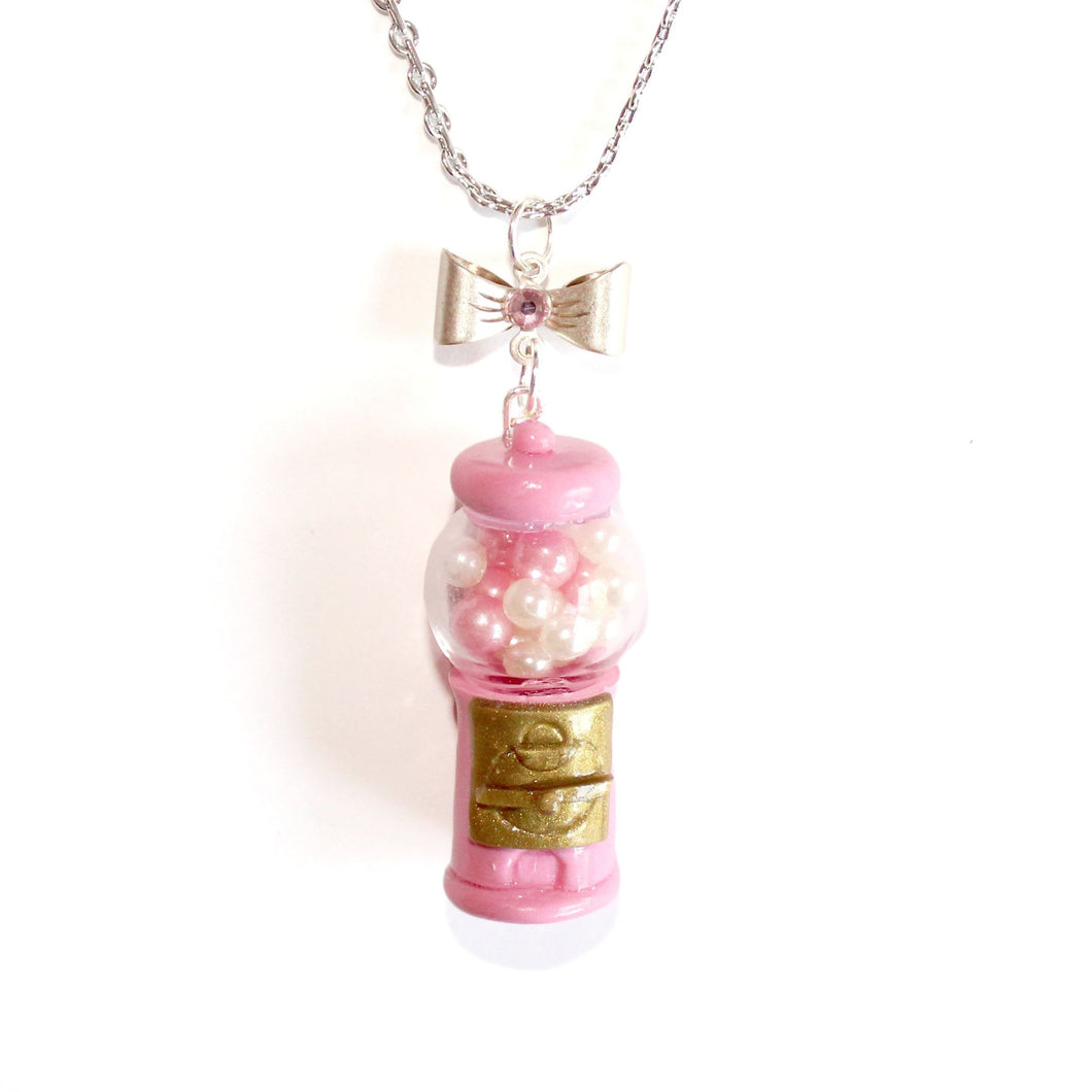 Pink Gumball Machine Necklace or Charm
