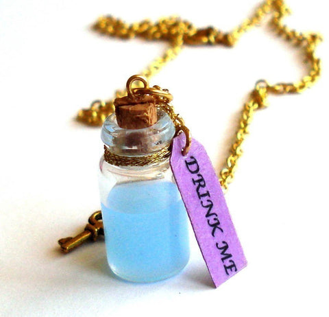 Drink Me Bottle Necklace - Alice in Wonderland