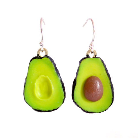 Sterling Silver Avocado Earrings - Fatally Feminine Designs