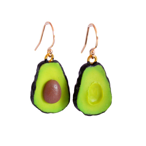 Gold Filled Avocado Earrings - Fatally Feminine Designs