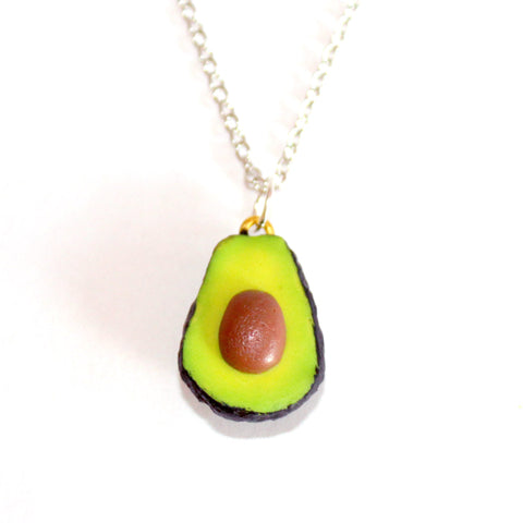 Sterling Silver Avocado Necklace - Fatally Feminine Designs