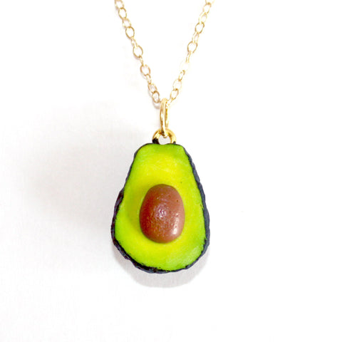 14K Gold Avocado Necklace - Fatally Feminine Designs