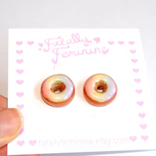 Load image into Gallery viewer, Rainbow Donut Stud Earrings - Fatally Feminine Designs