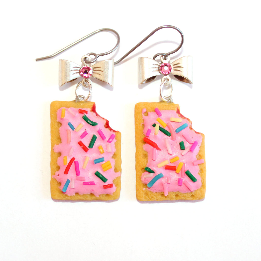 Pink Pop Tart Earrings